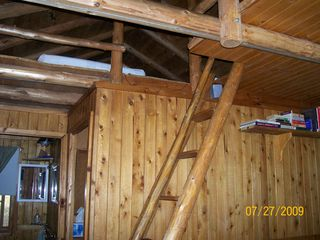 Pentwater cabin photo - Ladder to the sleeping loft