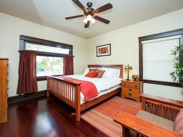 Bedroom 1 with King Size Beautyrest Bed and 400TC Linens