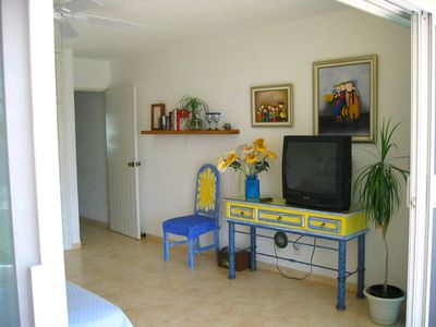 "Cancun condo rental - Condo ""A"", oposite side from king's bed"