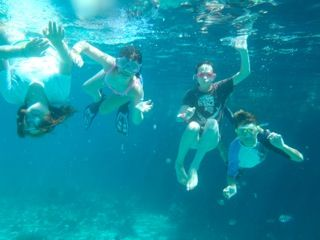SNORKELING AT THUNDERBALL GROTTO