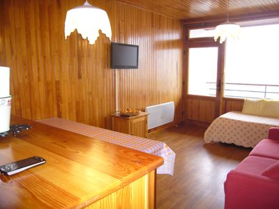 Large studio with balcony in the center of the resort slopes and the Télémix.