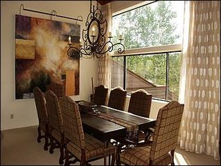 Snowmass Village townhome photo - Dining area for 8