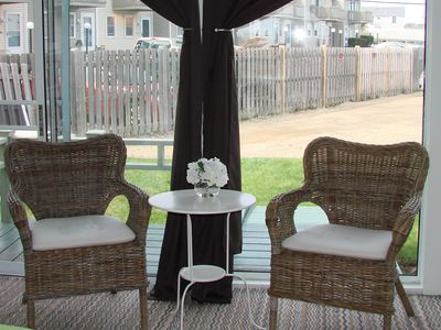 Hampton Beach condo rental - sitting area