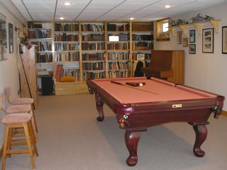 Wiscasset house photo - Rec room - full sized pool table with 1-1/4 inch slate plus an upright piano
