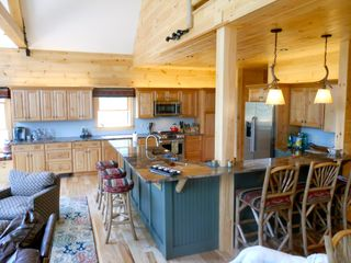 Warren chalet photo - Large open kitchen with tons of counter and cabinet space!