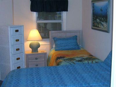 Third Bedroom showing 2 exlong Twins (King) + regular twin - Near Gulf Shores AL