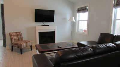 Living area - with HD Satellite TV and High Speed WiFi Internet ..on us!