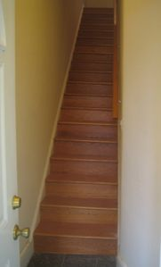 Columbia Heights house rental - Stair cases leading to the unit, one flight up from the entrance on Park Road