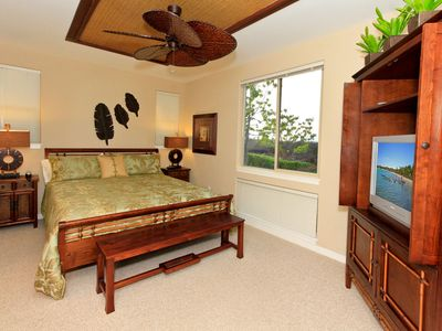 Master Bedroom with TV and DVD Player