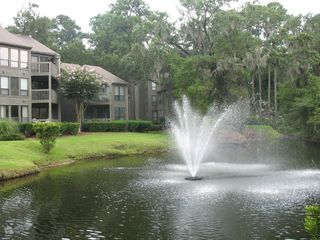 Sea Pines condo photo - Lagoon Side of Villa