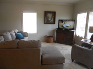 Gulf Shores property rental photo - living area with view of bay and ocean
