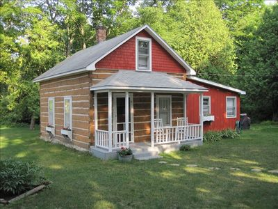 Gills Rock house rental - Authentic Log Cabin Fully Modernized with all the Conveniences!