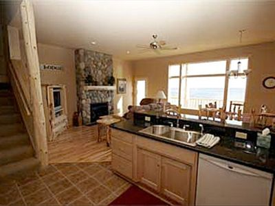 Your kitchen, greatroom & dining areas have direct access to the deck Lutsen