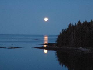 Port Clyde house photo - Moon rise over Barter Island