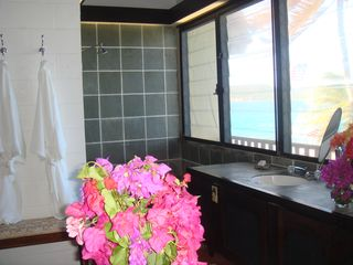 East End villa photo - Main house bathroom with view of ocean