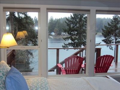 Master Bedroom View, & Adirondacks on the Main Deck