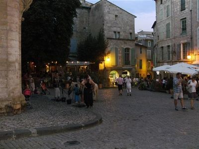 Pezenas old town by night