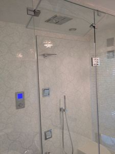 East Hampton house rental - Kohler digital shower experience