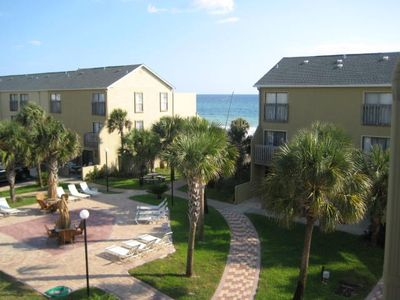 View of the Gulf from the third floor balcony