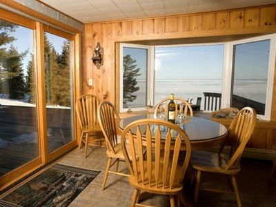 Dinning area with a spectacular view of Lake Superior