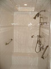 Grand Cayman condo photo - The master bath- Large shower, soaking tub, vanity