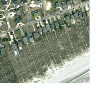 Overhead view of house with distance to the water