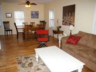 Family room open to dining area
