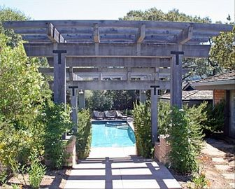 Carmel Valley house rental - Entrance to home and pool outdoor dining area