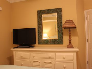 "Full sized Dresser, Mirror, 32"" TV"