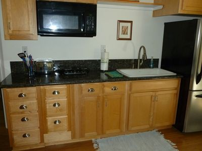Den and Kitchenette (Bar) in Vista Del Monte Suite with microwave