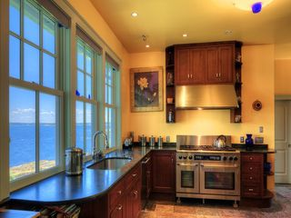 Pemaquid Point cottage photo - Doing dishes and cooking with a view - very spacious