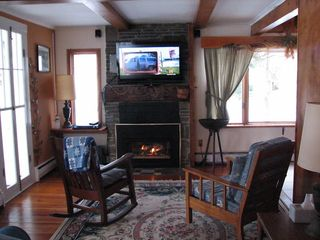 Lenox house photo - Living Room with Home Theatre and Fireplace