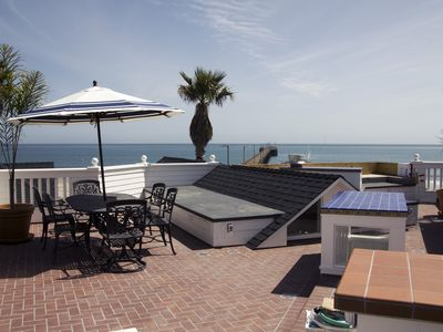 Roof deck view of the ocean. Imagine the sunsets!