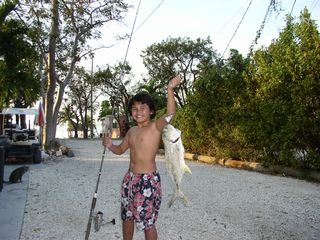 Key Largo cottage photo - Kids can go fishing...