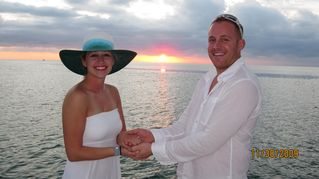Key West yacht photo - Plan your dream wedding honeymoon - lush tropical setting at reasonable rate.