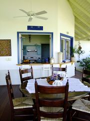 Las Terrenas villa photo - Dining room looking towards kitchen.