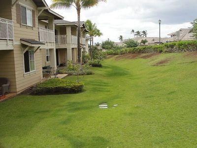 Green space in the back of condo