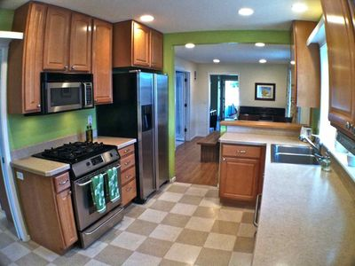 Kitchen Features Gas Range and Newer Appliances