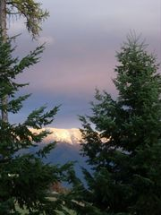 Columbia Falls condo photo - ALPINE GLOW Sunset View from living room~