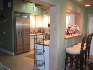 Key Colony Beach house photo - Fully equipped kitchen with bar area (seats 3)