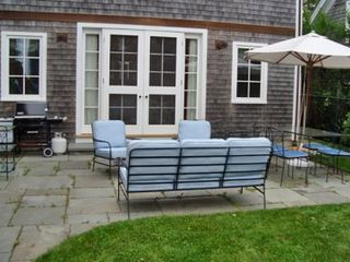 Edgartown house photo - Patio Has Outdoor Seating & Table For Dining, Grilling Area