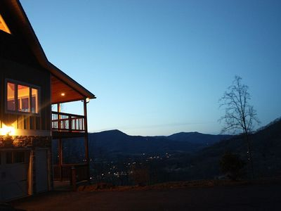 Dusk falls in the Smoky Mountains.
