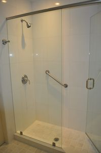 Spacious shower in master bedroom bath