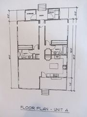 Poipu house photo - Floorplan..1100 sq ft.