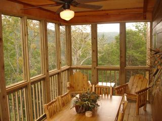 Branson cabin photo - Beautiful View on Screened Porch