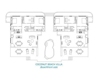 Coconut Beach Villa floor plan!