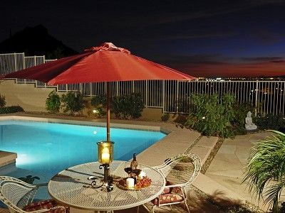 Phoenix house rental - Sunset View from Outdoor Entertaining Area