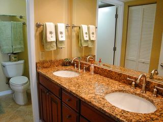 Indian Rocks Beach condo photo - Granite double sink counters serving master bedroom