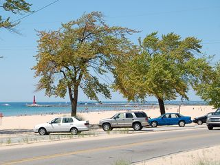 Muskegon house photo - Enjoy Pere Marquette beach at Lake Michigan - 3 blocks, a couple of minutes