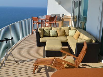 Have your pick of seats to enjoy the day, including a designer outdoor sofa!